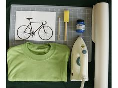 Step-by-step instructions for making iron-on stencils out of freezer paper!