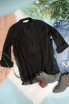 Ragean Eyelet Tunic Top-[product_description]-[product_tag]-Stella B. Clothing