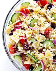 Nutrition: 343 calories, 15 g fat (4 g saturated fat), 454 mg sodium, 42 g carbs, 2 g fiber, 8 g sugar, 10 g protein. Just like potatoes, the starches in pasta convert to resistant starches when chilled. And don't let the thought of cold pasta turn you off. This recipe is bright, crisp, and refreshing—the perfect salad on a hot summer day.