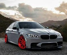 BMW F10 M5 grey on ADV.1 wheels