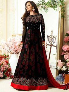 Black Drashti Dhami Anarkali Suit Online Price - Rs. 3,700.00 Shop Now @ https://www.liinara.com/collections/madhubala-dresses-drashti-dhami/products/black-drashti-dhami-anarkali-suit-online