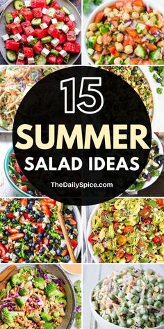 15 Delicious And Refreshing Summer Salad Recipes - 15 Tasty, delicious and refreshing summer salad recipes perfect as lunch or dinner, or even as a si - Fresh Salad Recipes, Summer Salad Recipes, Healthy Salad Recipes, Summer Salads, Salmon Recipes, Delicious Recipes, Tasty, Easy Party Food, Dinner Salads