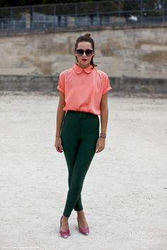 Seen On Blogs: Stephanie wears the Silky Round Collar Tee and Riding Pant by #AmericanApparel