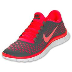 Nike Women's Free  Dark Grey/Bright Crimson