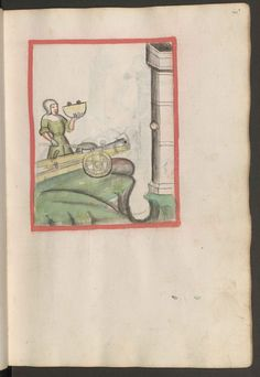Johannes Hartlieb: Kriegsbuch und Konrad Kyeser: Bellifortis. 1411. Österreichische Nationalbibliothek Wien, Cod. 3069. S. 089