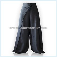 FL105 Black Rayon Skirt Pant Wrap Around Pants. I loved wearing these in the '70's. I found a pattern on line & I'm making these. They're great as shorts for the summer too.