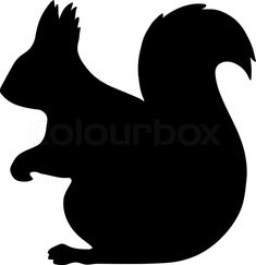 Vector logo or icon design element for . Squirrel Silhouette, Animal Silhouette, Silhouette Images, Silhouette Vector, Bunny Templates, Leather Jewelry Making, Art Assignments, Magazine Crafts, Circuit Design
