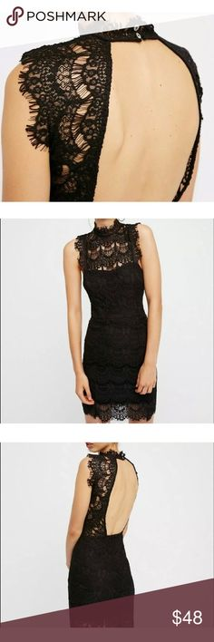 Free People Dress, M *More Pictures Coming Soon*  Brand: Free People Style: Open Back Bodycon Size: M Color: Black Condition: New, with Tags Free People Dresses Backless