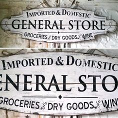 General Store Sign | Rustic Signs | Vintage Signs | Old General Store Signs | Wood Signs
