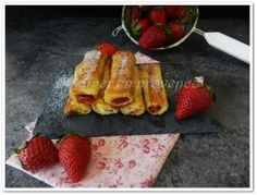 """Pain perdu roulé fraise/Nutella© """"french toast roll ups """""""