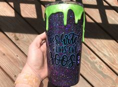 Your place to buy and sell all things handmade Diy Tumblers, Custom Tumblers, Glitter Tumblers, Glitter Cups, Green Glitter, Glitter Wine, Halloween Cups, Halloween Gifts, Christmas Tumblers