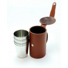 10 Medium Cups and Leather Case made by Marlborough World in West - Made In Uk, West Midlands, Camping Accessories, Measuring Cups, Leather Case, Mugs, Medium, Tableware, How To Make