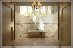 What a lovely light airy and spacious wetroom /bathroom