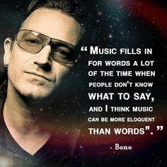 Today's quote: Bono - cantante y activista irlandés.