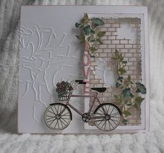 Birthday Card by mycreativecorner – Cards and Paper Crafts at Splitcoaststampe… - Geburtstagskarte Diy Pretty Cards, Cute Cards, Bicycle Cards, Window Cards, Card Making Inspiration, Masculine Cards, Creative Cards, Greeting Cards Handmade, Vintage Cards