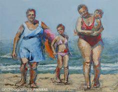 Andrea Galindo. Pintura: PAISAJES PLAYEROS III