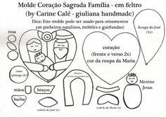 Marrispe Artesanato: Guirlanda Sagrada Família