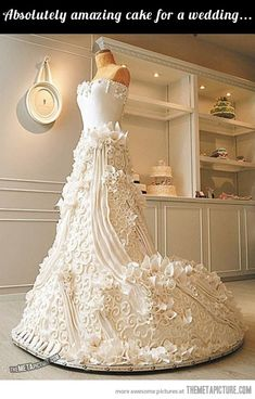 This is a life-size wedding cake… don't really like but quite amazing just the same