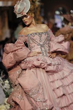 John Galliano for Christian Dior Haute Couture...Garden Party Chic<3   Do you think we could get period costumes like this? hahah