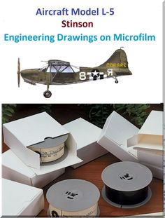 L-5 Aircraft Engineering Drawings on Microfilm - Aircraft Reports - Manuals Aircraft Helicopter Engines Propellers Blueprints Publications