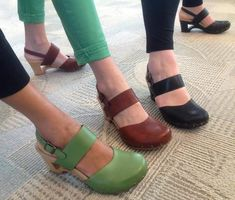 dansko thea...i went with the practical brown, but wanted the green. they look kind of mint here, but are more avocado