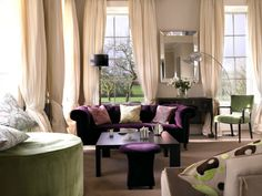 1000 Images About Purple And Green Livingroom On