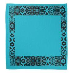 OCEAN BLUE design bandana