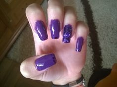 purple and glitter again but this time the longest they ever were