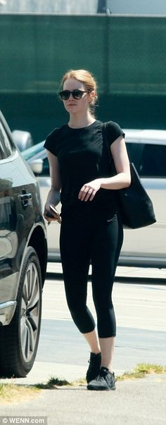 Fit: Emma Stone headed to Beverly Hills on Friday morning for a work-out at the gym