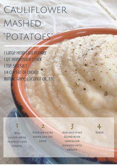 Cauliflower Mashed Potatoes (GAPS Intro, Primal) Honest Body