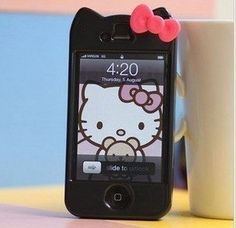 Newest iPhone 4G/4S Hello Kitty Face Hard Case/Cover/Protector(Black Case with Pink Bow)-by Kaleidoscope by Apple, http://www.amazon.com/gp/product/B0070Q99WM?ie=UTF8=213733=393177=B0070Q99WM=shr=abacusonlines-20 via @amazon