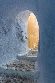 Passage to the Castle, Pyrgos village, Santorini, Greece