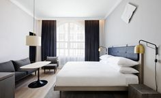 I have two incredible projects by Danish design studio Space Copenhagen to share with you today. The first is the recently opened 11 Howard Hotel in SoHo, Yew York. Tucked into the fold of SoHo's cool Boutique Hotel Bedroom, Hotel Bedroom Design, Soho Hotel, 11 Howard Hotel, Hostels, Hotel Interiors, Cool House Designs, Bedroom Styles, Hotel Suites