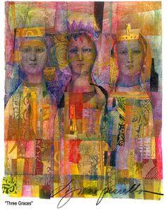 Three Graces by Lynn Perrella http://www.lkperrella.com/
