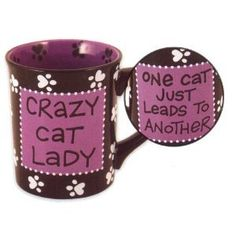 Every cat lady deserves this mug!  It will remind them to not turn into a crazy cat lady if nothing else ;)