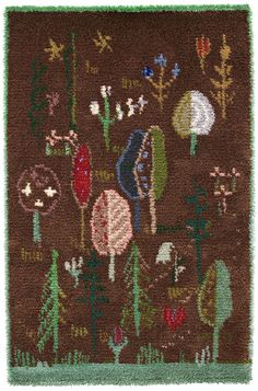 Rya Rug, Magic Forest, Bohemian Rug, Arts And Crafts, Weaving, Textiles, Rugs, Wall Hangings, Modern
