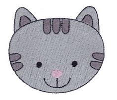 Cute Animal Face, Cat - 4x4 | Tags | Machine Embroidery Designs | SWAKembroidery.com Bunnycup Embroidery