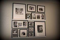 wall ideas using ledge frames   Wall Ledge Decorating Ideas