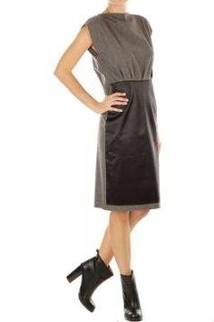Virgin wool and silk sleeveless dress by Martin Margiela
