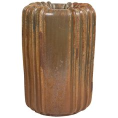 """Arne Bang Stoneware Floor Vase, 1930s   One of Arne Bang's largest works, beautiful example of Art Deco form vase, sign with initials. Measures 15""""."""