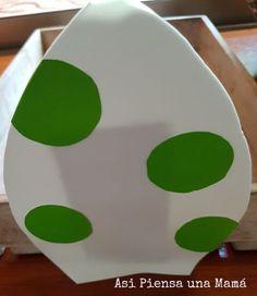 Decoración para cumpleaños infantiles de mario bros. Huevo de yoshi Diy Yoshi, Minions, Mario Y Luigi, Dino, O Pokemon, Eggs, Decorated Cakes, Diy Decorating, Carton Box