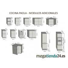 muebles cocina medidas - buscar con google | cocina | pinterest ... - Medida De Muebles De Cocima