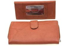 Ladies' Paul & Taylor Genuine Leather Clutch Wallet With A Removable Checkbook Cover Paul & Taylor. $34.45