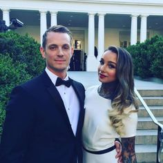 """Celebrity weddings of 2016:      Joel Kinnaman made a surprise revelation while promoting """"Suicide Squad"""" on """"The Talk"""" in April. When co‐host Aisha Tyler mentioned that Joel's girlfriend Cleo Wattenstrom is a tattoo artist while asking him about some ink he got with the movie's cast, he corrected her. """"Your girlfriend is actually a tattoo artist, so what does she think of it?"""" Aisha asked. """"My wife,"""" Joel corrected her. Their actual wedding date is unknown."""
