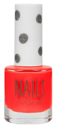 Poppy red nail polish perfect for summer.