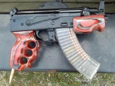 AK 47 pistol this looks ugly... Find our speedloader now! http://www.amazon.com/shops/raeind