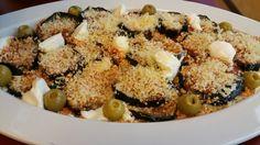Gebackene Auberginen mit Parmesan