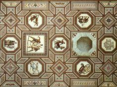 El mosaico -geométrico- de la villa romana de Nennig, en el sur de Alemania. | Matemolivares