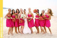 orange bridesmaid dresses beach - Google Search