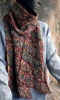 Jewel Dragon pattern by Svetlana Gordon 2019 Jewel Dragon (patchwork knitting). The post Jewel Dragon pattern by Svetlana Gordon 2019 appeared first on Scarves Diy. Diy Tricot Crochet, Knit Or Crochet, Crochet Shawl, Crochet Bikini, Knit Cowl, Knitted Shawls, Crochet Scarves, Knitting Stitches, Knitting Yarn